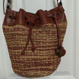 NWOT Lucky Brand Woven Handbag
